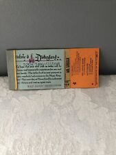 "New Listing1968 Disneyland Original Ticket Book ""Mr. Lincoln� Ticket Very Nice Condition!"