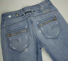 EUC - RRP $379- Womens Stunning G-Star Raw 'CORVET KATE TAPERED WMN' Faded Jeans