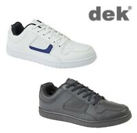 Mens Smart Lace Flat Trainers Skate Shoes - Black or White Size 6 7 8 9 10 11 12