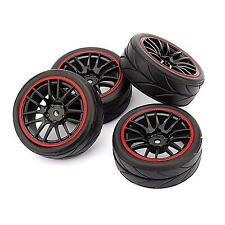 4pcs 12mm Hub Wheel Rims & Rubber Tires for RC 1/10 on-road Touring Drift Car R