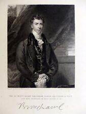 Robinson / Lawrence - Portrait de Henry Brougham, Baron ENGRAVING Gravure 1832