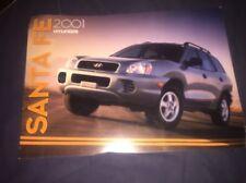 2001 Hyundia Santa Fe SUV Color Brochure Catalog Prospekt