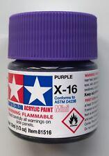 Tamiya 81516 Acrylic Mini X-16 Purple 10ml NEW