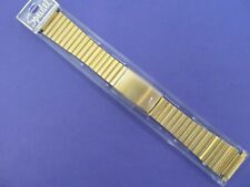 "Speidel Mens Gold Plated Diver Type Watch Band..6 3/4""..18-22mm Adj Ends.."