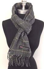 100 % cachemire  Ecosse écharpe homme femme laine carreaux gris noir top  qualié 1f32980895b