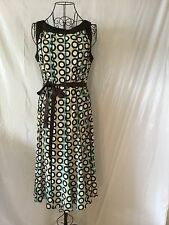 "SANDRA DARREN ""ALFANI ""Similar"" Brown Blue Green Women's Dress (8)"