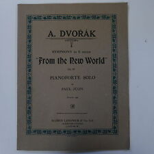 piano solo DVORAK  from the new world symphony , arr paul juon , 35pp