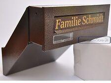 Einwurfklappe Briefeinwurf Briefklappe BRAUN ANTIK 310x80 C4 BRONZE ANTIK