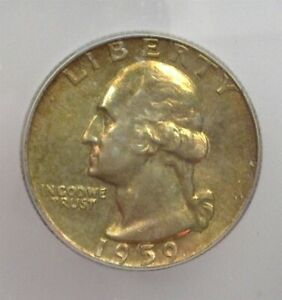1959 WASHINGTON SILVER 25 CENTS ICG MS 66+ LISTS FOR $275!! EXCELLENT TONING!!