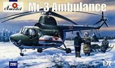 Amodel - Mil mi-3 Ambulancia Helicóptero URSS Equipo de construcción 1:72 Kit