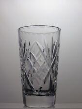 ROYAL DOULTON CRYSTAL CUT GLASS VASE ,MARKED ON BASE.