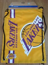 New LA Lakers NBA Basket Ball Drawstring Bag Gym/PE Bag
