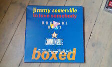 MAXI SP PICTURE JIMMY SOMERVILLE BRONSKI BEAT COMMUNARDS - TO LOVE SOMEBODY