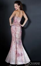 Jovani Multi Embellished Sweetheart Strapless Mermaid Prom Dress Sz 6 NWT