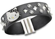 Swarovski Hello Kitty Rock Leather Bracelet,M Clear Crystal MIB - 1145284