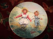 WEDGWOOD Queens Ware Display Plaque Limited Edition Mary Vickers Playtime