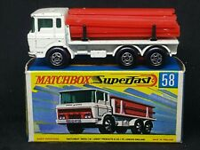 Matchbox MB58-A1 (Transitional): DAF Girder Truck, Type G Box *RARE White/Cream