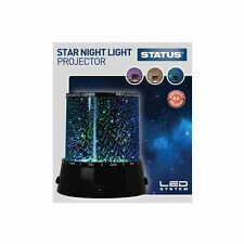 STATUS LED STAR PROJECTOR NIGHT LIGHT LAMP MULTIFUNCTION WITH BATTERIES  34082