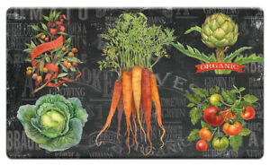 "Anti Fatigue Memory Foam Floor Mat, 30""x20"" - Chalkboard Veggies"