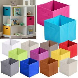Square Non Woven Foldable Fabric Storage Box Cloth Bookcase Shelf Toy Kids Cube
