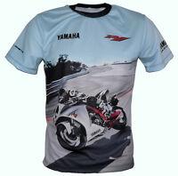 Yamaha YZF-R1 Nouveau Modèle T-Shirt Chemise Tee-shirt Camiseta Maglietta 2015 2016 Bleu rn32