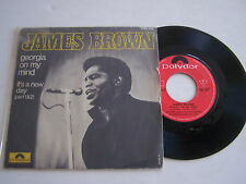 SP 2 TITRES 45T VINYL . JAMES BROWN , GEORGIA ON MY MIND . POLYDOR 2001 018