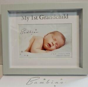 "Bambino MY FIRST 1st GRANDCHILD PHOTO FRAME 6""x4"" BABY-IDEAL GRANDPARENT GIFT's"