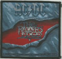 AC/DC Razors Edge Woven Patch Sew On Official Licensed Band Merch Angus Young