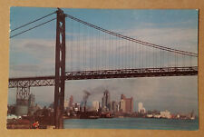 Ambassador Bridge - Detroit, Michigan/Windsor, Ontario Postcard