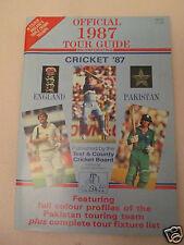 OFFICIAL 1987 TEST MATCH TOUR GUIDE-ENG v PAKISTAN-MINT CONDITION - RARE  *SALE*