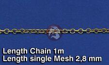 Royal Model 1/35 Metal Chain (E) Single Mesh 2.8mm (Chain Length 1 meter) 520