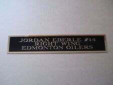 """Jordan Eberle Oilers Engraved Nameplate For A Hockey Jersey Case 1.25"""" X 6"""""""