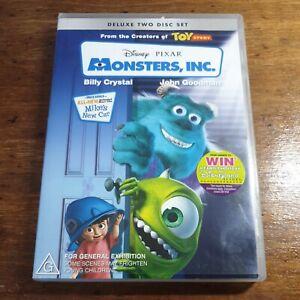 Monster's Inc Disney Pixar DVD R4 Like New! FREE POST