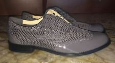 COLE HAAN Skylar II Grey Patent Leather Oxford Lace Up Shoes NEW Womens Size 9.5
