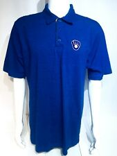 Majestic Men's Large Golf Polo Shirt~Blue~ Glove & Ball Patch Emblem