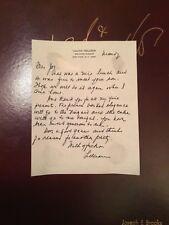 Lillian Hellman Signed Letter