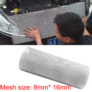 """Universal Silver Grille Mesh Cover Aluminium Racing Car Tuning Grill Net 40x13"""""""