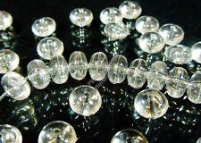 250 perline di plastica Rondell TONDO 8mm Bianco Acrilico Perle Beads DIY d811