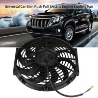 12 inch Car Slim Push Pull Electric Engine Cooling Fan 12V with Mounting