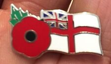 ROYAL NAVY WHITE ENSIGN REMEMBRANCE DAY ENAMEL PIN BADGE