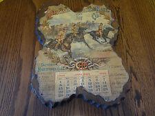 CAPEWELL HORSE NAIL CO. JANUARY 1899 WOOD SLAB SHELLAC CALENDAR PRINT ~FAST S/H~