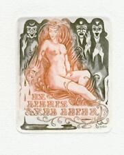 Exlibris Erotic ex libris by JAKSTAS VYTAUTAS (1935-1994) Lithuania