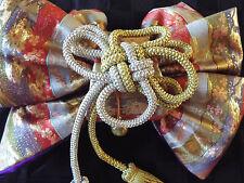 160501 Vintage Japanese top quality brocade silk Fukuro Obi sash Kimono tapestry