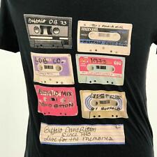 Streetwear Unisex T-Shirt Cassette Tapes Buffalo David Bitton Black Short S/S M
