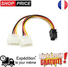 Câble adaptateur molex PCI express 6 Pin alimentation ide 4 pour carte graphique