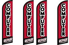 Computer Repair King Size Windless Flag Pack of 4 (Hardware Not Included)