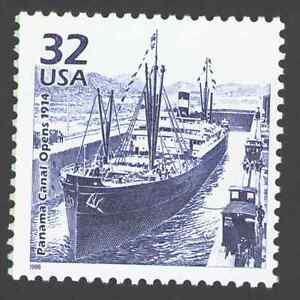 US. 3183f. 32c. Panama Canal Opens.1914. Celebrate The Century. MNH. 1998