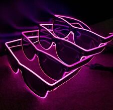 4 x Pairs Of Pink Flashing Neon Light Up Sunglasses - Ideal For Hen Do Hen Party