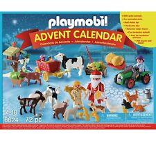 Playmobil 6624 Noël sur la ferme de l'Avent calendrier avec Santa