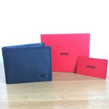 Hugo BOSS Men's Black Leather Wallet, 'Victorian_Trifold', New style 50379679